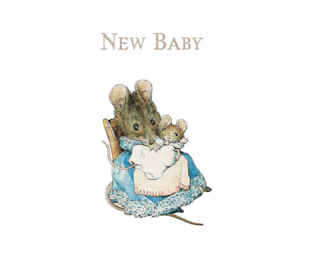 Beatrix Potter - New Baby Card